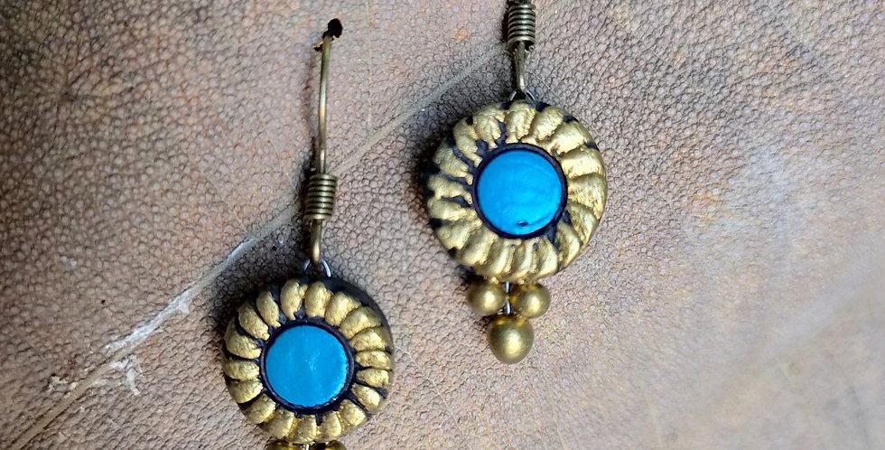Blue Clay Drop Earring
