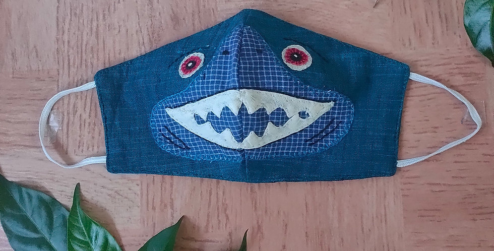 Kids embroidery mask