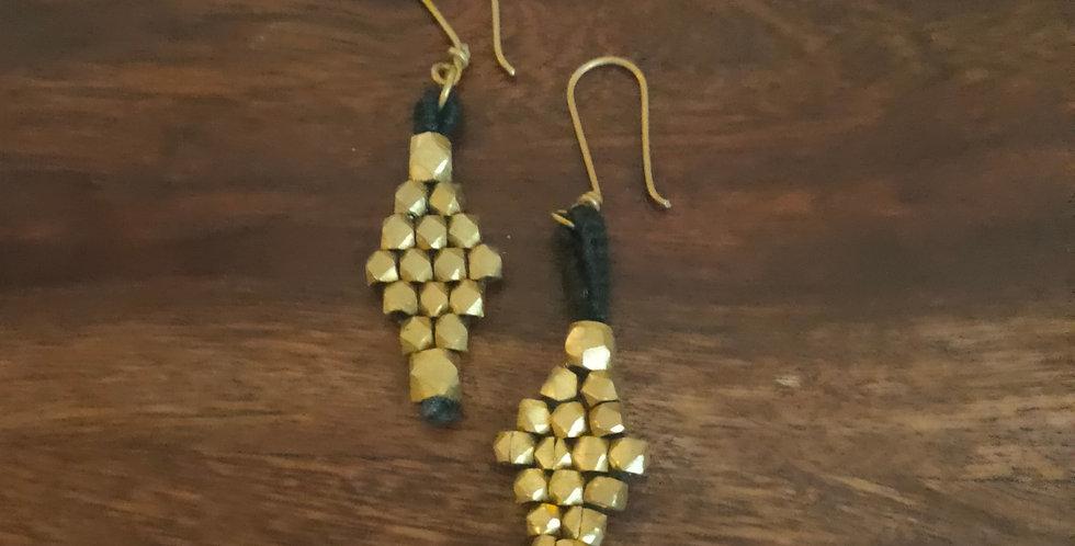 Dokra bead earring black