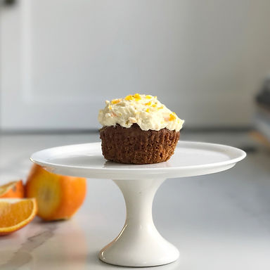 Carrot Cupcakes with Crème Fraîche Icing