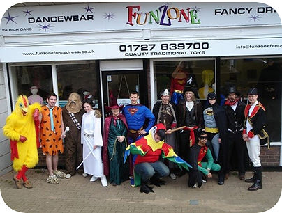 funzone fancy dress and dancewear