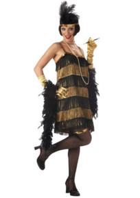 Black & Gold Flapper Girl