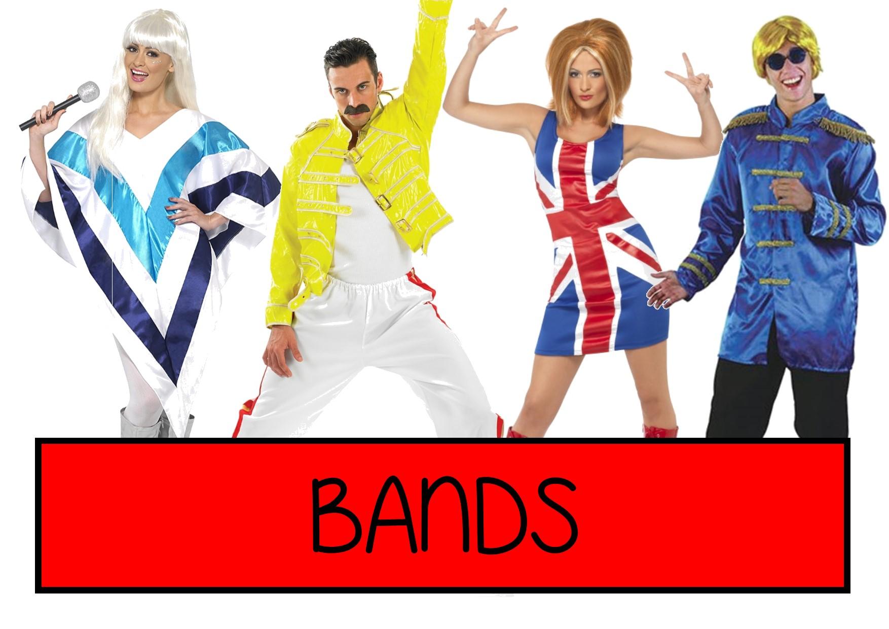 bands fancy dress ideas