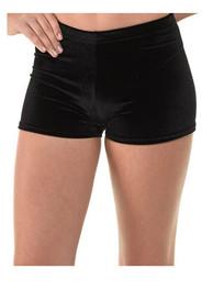 Black Micro Shorts Velvet