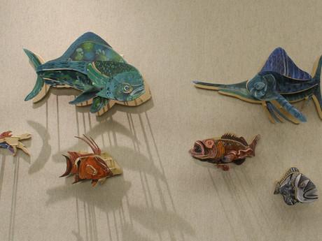 Multi-Planar Sea Life Paintings