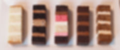 Cake sample slices