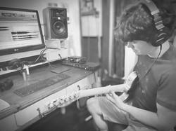 Pablo recording guitars