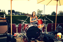 Janna Brunner on Drums-2016