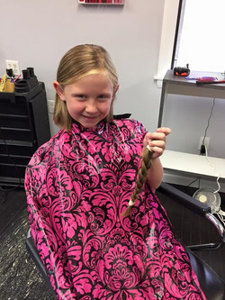 Brooke is so happy. All her idea to donate her hair