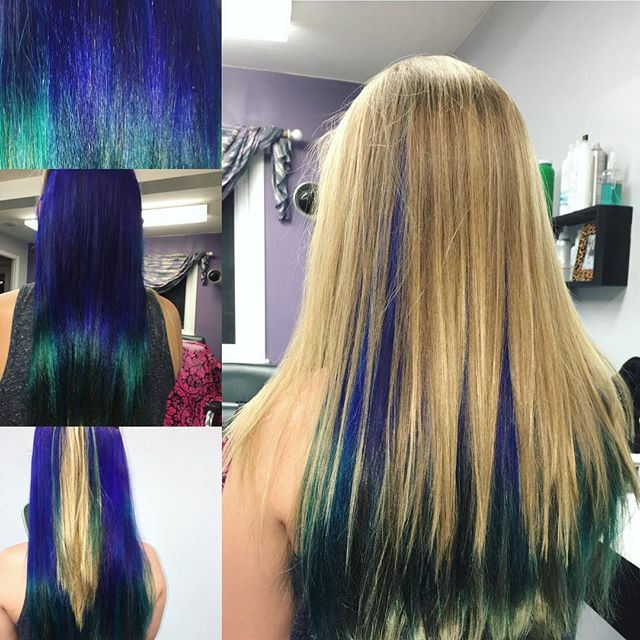 Fun mermaid hair