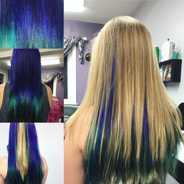 Fun mermaid hair