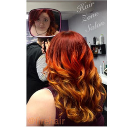 This has to take the cake as my favorite hair color yet!  #firehair #flamehair #hzsalon _hairzonesal