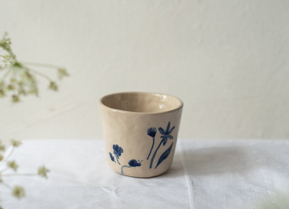 Blue handpainted cup 1