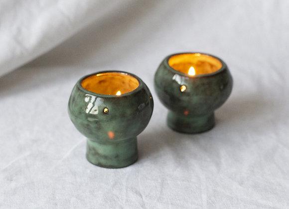 Waxinelight holder green celadon