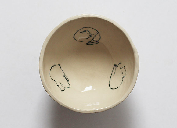 Footed cat bowl (cycle of comfort)