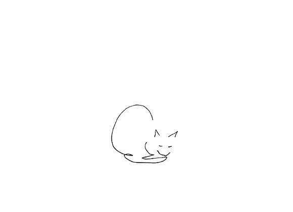 Sleepy cat - A6