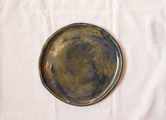 Brown-blue cake/small lunch plate