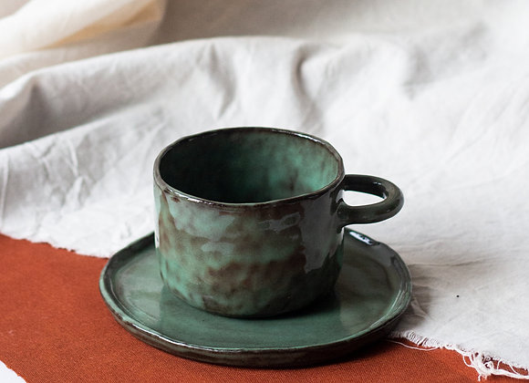 Mug tea/coffee set, green