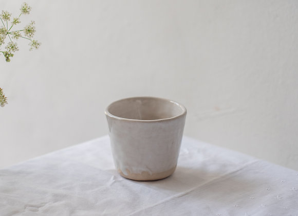 White dipped coffee cup