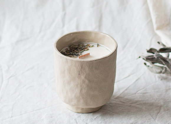 Rustic candle, natural