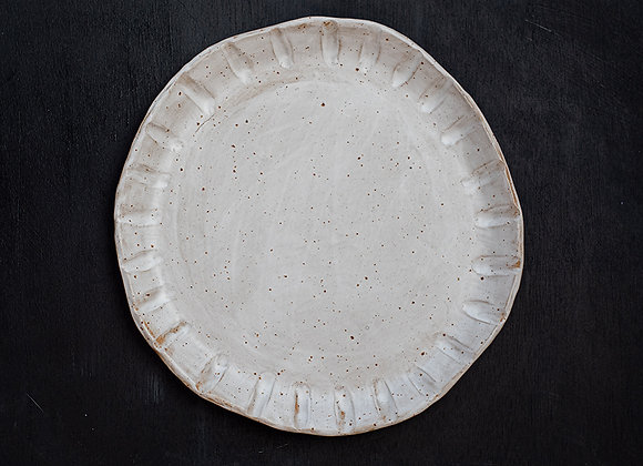 Decorated speckled plate II