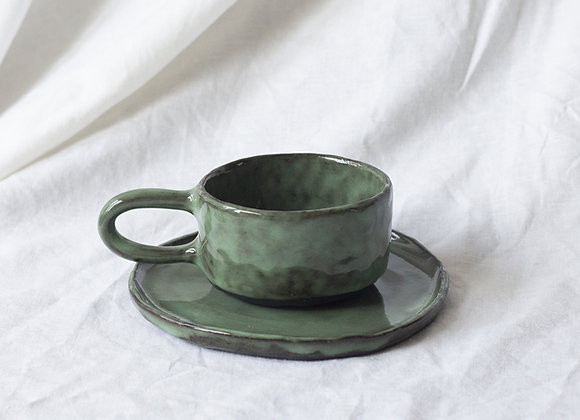Wabisabi coffeecup and plate set