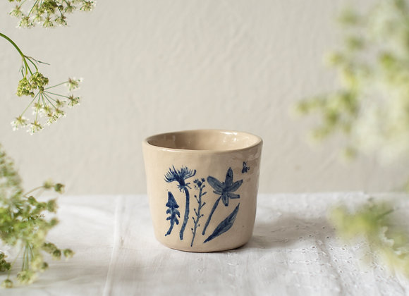 Blue handpainted cup 2