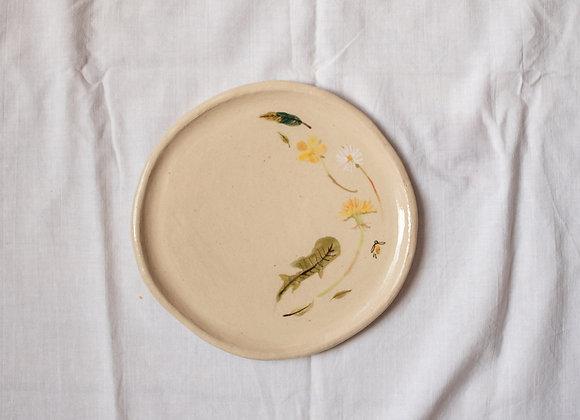 Handpainted cake plate