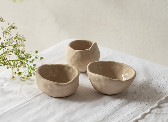 Set of small bowl friends natural