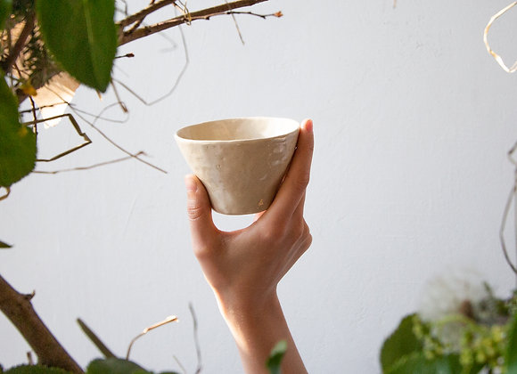 Nude organical cup I with the white spot
