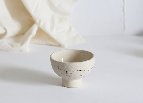Footed landscape bowl I