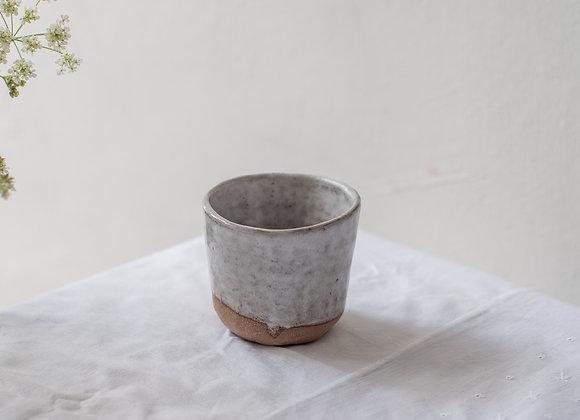 Earthy clay coffee cup