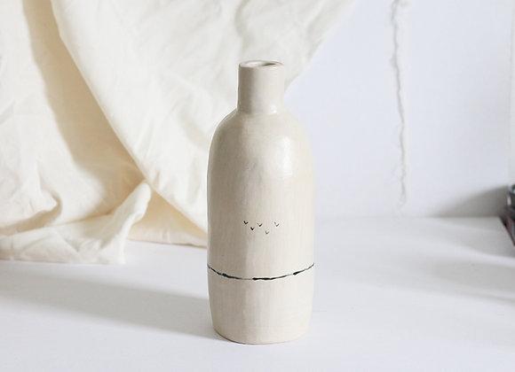 Handpinched natural illustrated vase