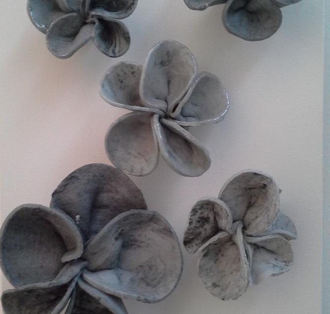 Frangipani Grey Detail