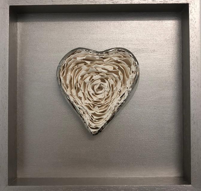 Platinum Heart Detail