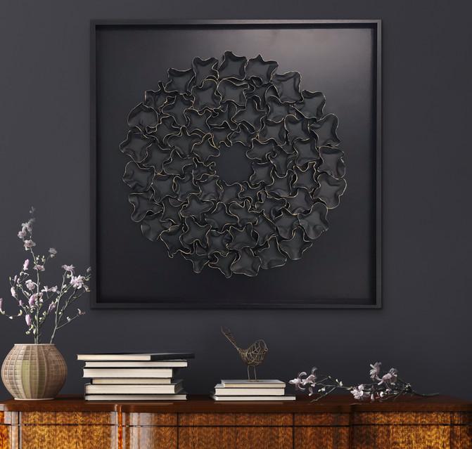 Ruffles Noir 102x102cm