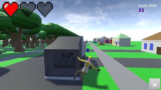 Gameplay of final Garbage Run version