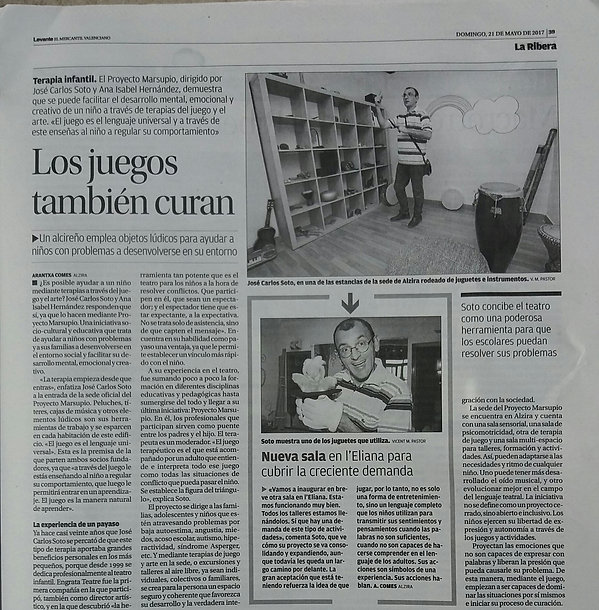 Prensa Terapia Juego LEVANTE 21 Mayo 201