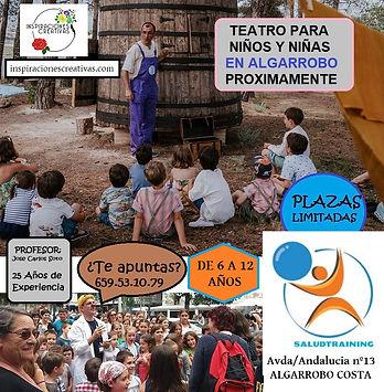 Cartel Teatro Informacion Saludtraining.