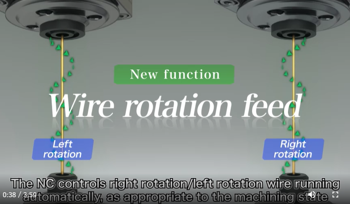 Exclusive Wire rotation feed for Sodick Wire EDM machines
