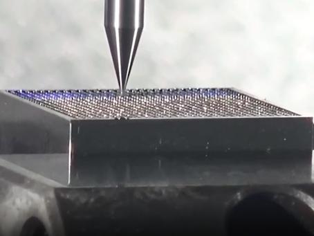Machining 20 micron by 300 micron tall features, 841 times on the Sodick AZ275 NANO machine