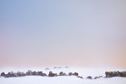 Rock Wall in Snow