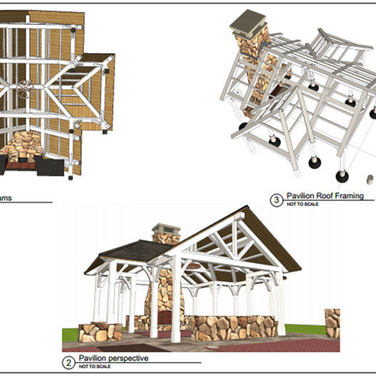 3D renderings walk the client through the technical imaging of the structure