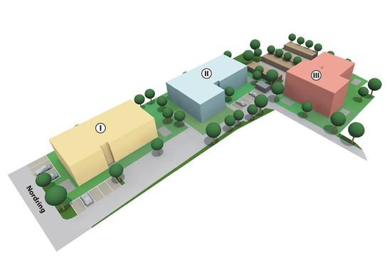 Gebäudeanordnung