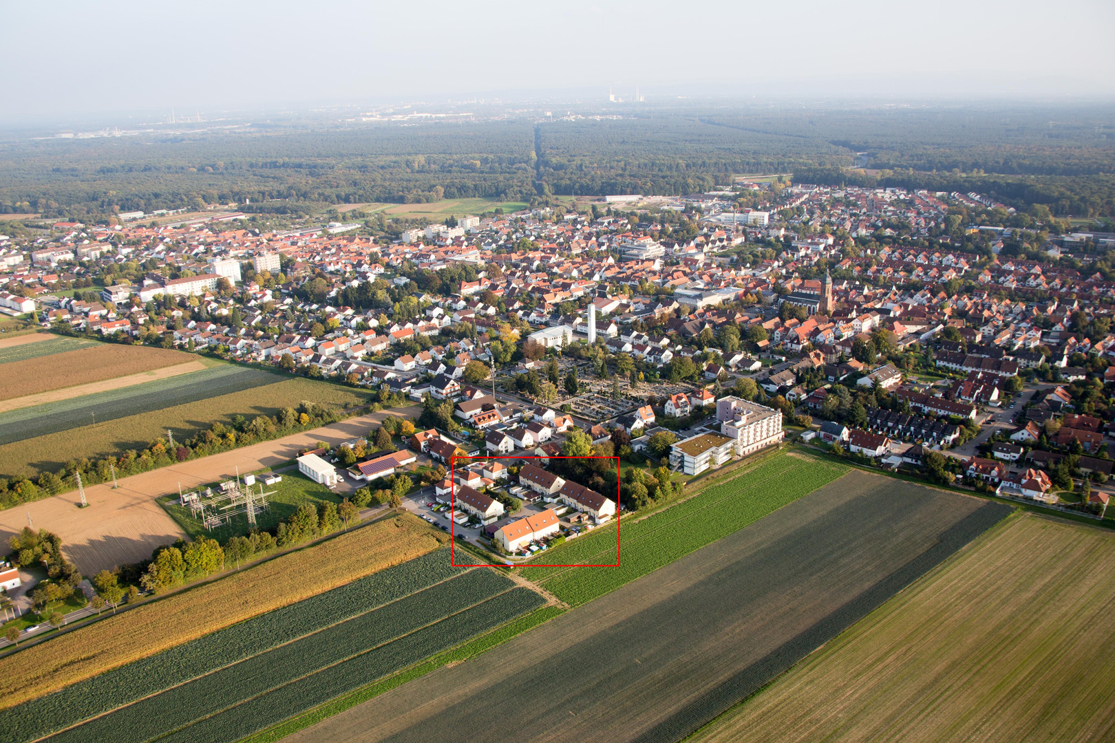 Luftbild Kropsburgstraße, Kandel