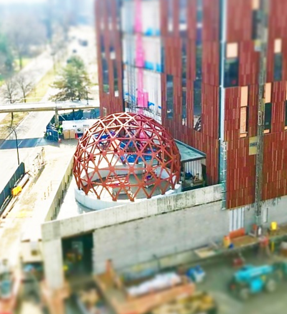 Prodevco's PCR42 robotic plasma cutter prepped the Geodesic Dome for University of Michigan.