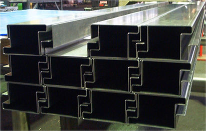 Metal forming of stainless steel channels