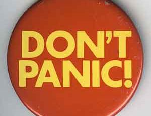 Sweatpants Guy: Avoiding Panic