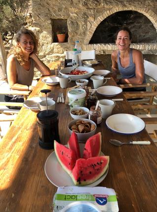 Mykonos breakfast - Anne & Marietta