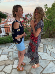 With Claire in Skopelos